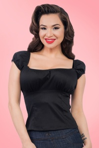 50s Bonnie Top in Black