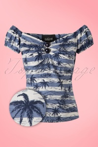 Collectif Clothing Dolores Mahiki Top in Blue 20669 20161201 0002bW
