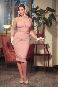 Vintage Diva the Rose  Pencil Dress in Blush Pink 20588 20170126 0020w