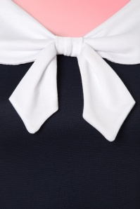 Steady Clothing Betsy Bow Top in Navy 110 31 21132 20170329 0004W