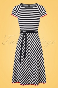 Mademoiselle Yeye Kim Dress in Stripes 19895 20161116 0002W