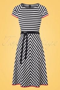Mademoiselle Yeye Kim Dress in Stripes 19895 20161116 0002W