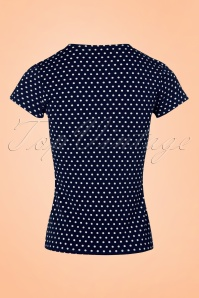 Fever Holywell Polkadots Top in Navy  111 39 20075 20170329 0009w