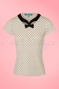 Fever Holywell Polkadots Top in Cream 111 57 20077 20170329 0001W