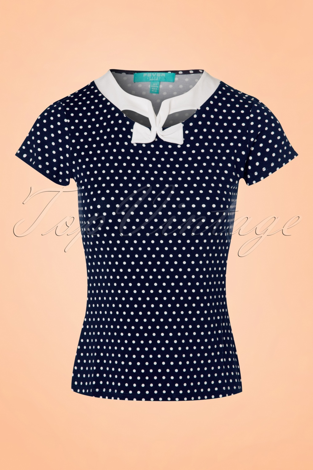 1950s Rockabilly & Pinup Tops, Shirts, Blouses 50s Holywell Polkadot Top in Navy £34.61 AT vintagedancer.com