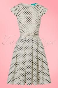 Fever Mary Polkadot Dress in Cream 102 59 20066 20170329 0003W