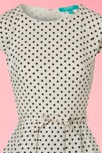 Fever Mary Polkadot Dress in Cream 102 59 20066 20170329 0003V