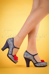 Ruby Shoo Tanya Pumps in Navy 402 39 19821 model 03082017 002W