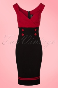 Steady Clothing Set Sail Diva Dress in Red and Black 100 20 20778 20170329 0001W