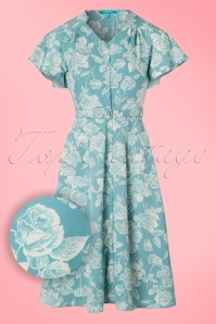 Fever Daria Blue Leaf Print Dress 102 39 20072 20170329 0007W1
