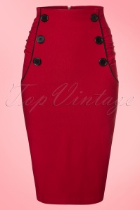 Steady Clothing TopVintage Exclusive Vivian Wiggle Skirt in Red 120 20 20773 20170329 0003W