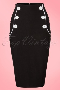 Steady Clothing TopVintage Exclusive Vivian Wiggle Skirt in Black 120 10 20772 20170329 0002W