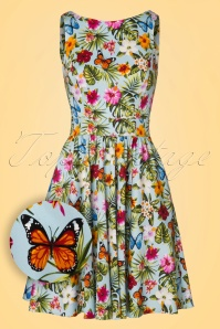 Lady V Summer Floral Tea Swing Dress 102 39 21196 20170329 0013W1