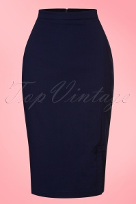 Fever Ashcott Pencil Skirt in Navy 120 31 20068 20170329 0002W