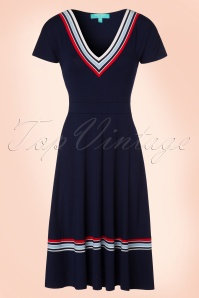 60s Toulon Dress in Navy