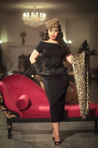 Vintage Diva Jazmin Dress in Black 20544 20170227 0003