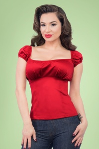 Steady Clothing Bonnie Bump Top in Red 110 20 20744 003A