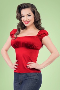 Steady Clothing Bonnie Bump Top in Red 110 20 20744 002A