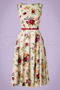 Lady Vintage Hepburn Roses Swing Dress 102 59 21192 20170331 0005W