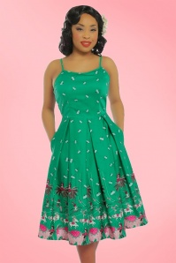Lindy Bop Evelyn Green 50s Circus Umbrella Dress 21752 1