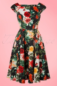 Hearts and Roses Navy Rose Floral Swing Dress 102 39 19991 20170216 0011W