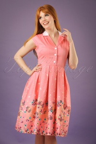 50s Gilda Bicycles Swing Dress in Pink