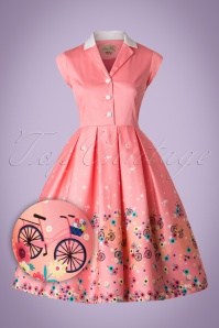 Lindy Bop Gilda Pink Bicycles Swing Dress 102 22 21239 20170301 0003W1