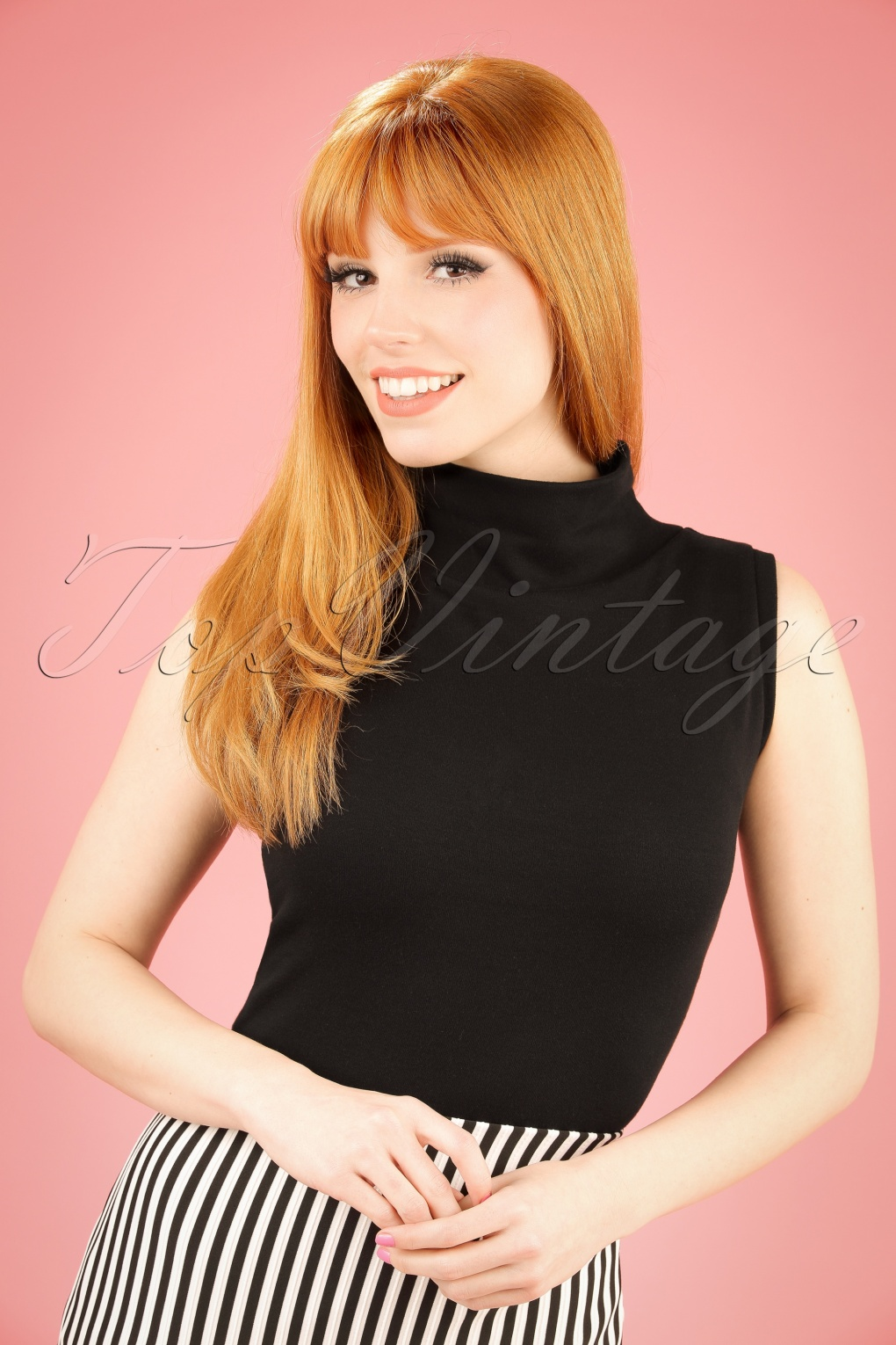 Shop 1960s Style Blouses, Shirts and Tops 60s Trixie Top in Black £50.00 AT vintagedancer.com