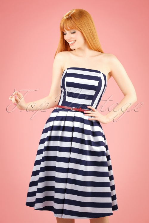 Dolly and Dotty Strapless Striped Swing Dress 102 59 20728 20170216 01W