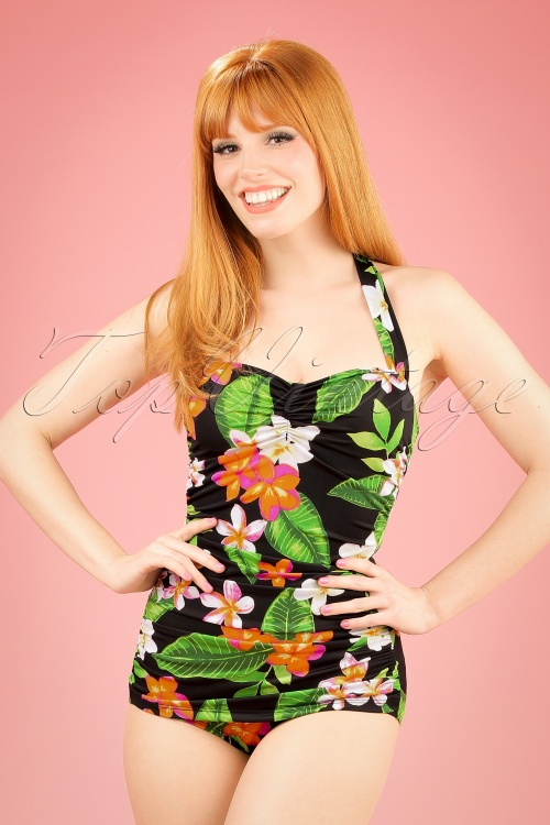 Esther Williams Classic Floral Bathing Suit 161 14 16938 20151103 01W