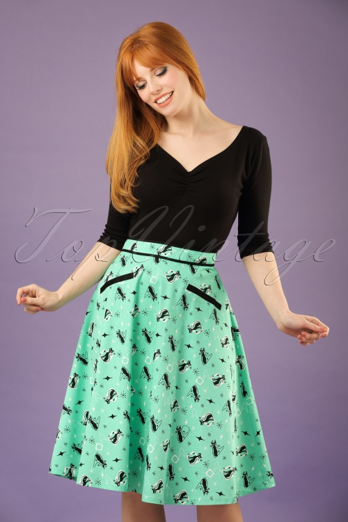 Vixen 50s Emma Skirt In Green 123 49 20461 20170306 001W