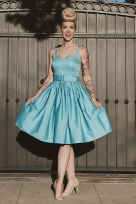 50s Jade Swing Dress in Light Blue