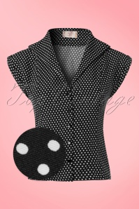 Dancing Days by Banned Lovely Day Black Polkadot Blouse  112 14 20941 20170331 0007wv