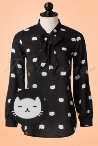 Retrolicious Cat Bow Blouse 112 14 20475 20170331 0003wv