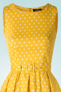 Dolly and Dotty Lola Classic Polkadot Dress in yellow 102 89 18321 02172016 008V