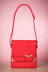 60s Francis Bow Shoulder Bag in Red