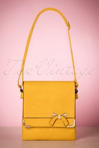 60s Francis Bow Shoulder Bag in Mustard