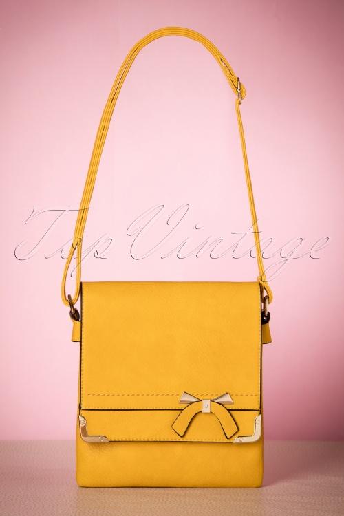 La Parisienne Yellow Bow Bag 216 80 21755 04032017 006W