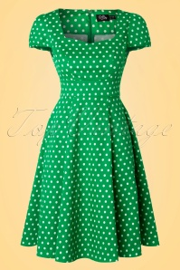 Dolly and Dotty Claudia Green Polkadot Dress 102 49 18777 20160330 0006W