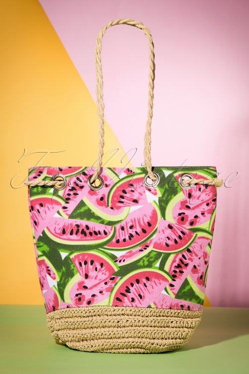 50s Tropical Watermelon Beach Bag