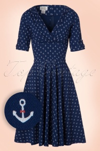 Unique Vintage Anchor Swing Dress 102 39 21456 20170329 0004W1