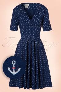 Unique Vintage Anchor Swing Dress 102 39 21456 20170329 0004W1