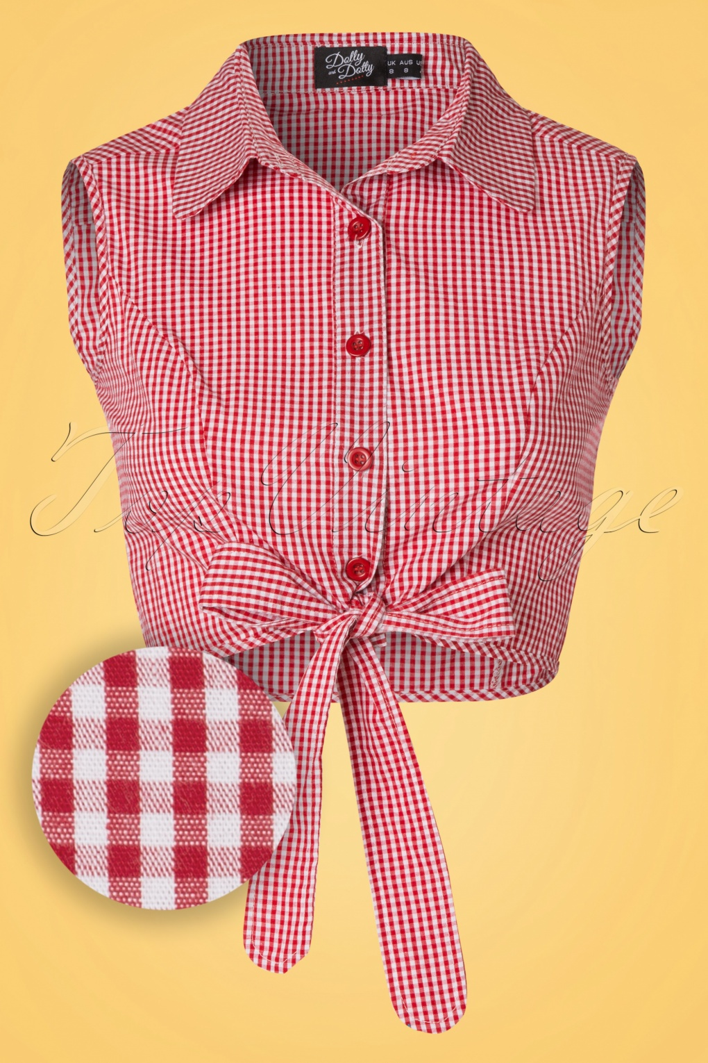 Pink Gingham Blouse
