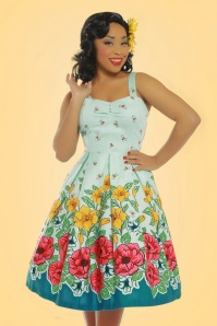 Lindy Bop Bernice Green Floral Dress 102 49 21877 20170403 1