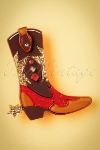 TopVintage exclusive ~ 60s Boot Scootin' Brooch