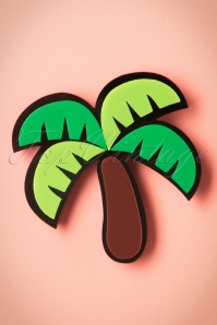 60s My Tropical Palm Tree Brooch