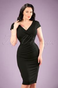 50s Brenda Pencil Dress in Black