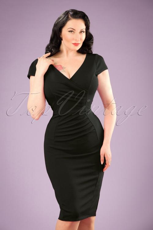 Vintage Chic Scuba Crepe Magenta Pencil Dress 100 22 20981 20170123 01W