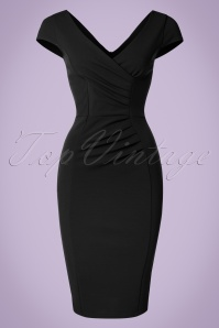 Vintage Chic Scuba Crepe BlackPencil Dress 100 22 20981 20170123 0021W