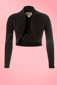 Jean knitted Bolero in Black